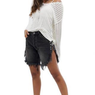 One by One Teaspoon Frankie Extreme Side Split Denim Shorts