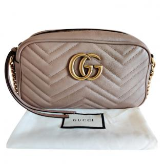 Gucci Dusty Pink Small Marmont Camera Bag