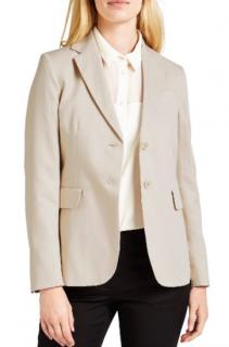 Max Mara Beige Linen Blend Tailored Jacket