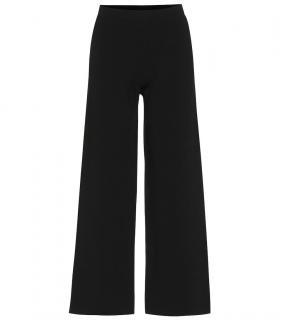 Max Mara Black Jersey Flared Pants