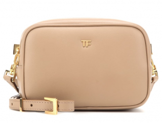 Tom Ford Tan Leather Camera Box Bag