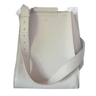 Max Mara Ecru Leather Reversible Tote Bag