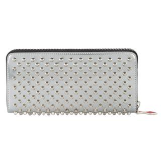 Christian Louboutin Silver Panettone Spiked Wallet