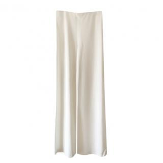 Max Mara White Wide Leg Pants