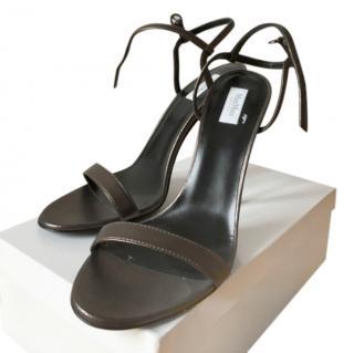 Max Mara Bronze Metallic Strappy Sandals