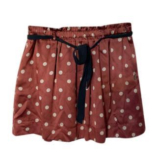 Maison Scotch Polka Dot Mini Skirt