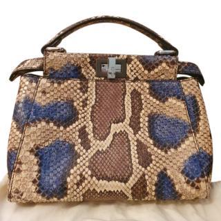 Fendi Python Leather Peekaboo Min Crossbody Bag