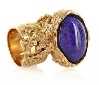 YSL Lapis Gold Plated Arty Ring