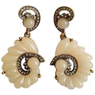 Oscar De La Renta Resin Swirl Runway Earrings