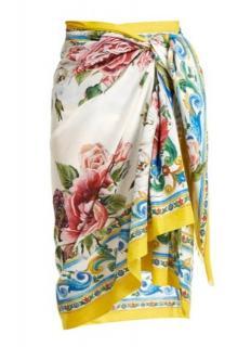 Dolce & Gabbana Majolica Print Wrap Scarf