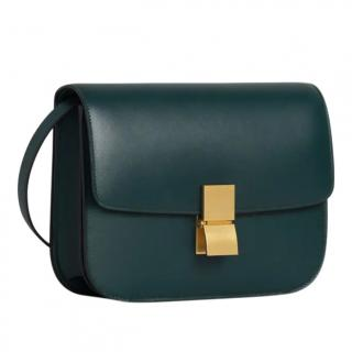 Celine Amazon Green Classic bag in box calfskin
