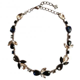 Oscar De La Renta Teardrop Crystal Embellished Necklace