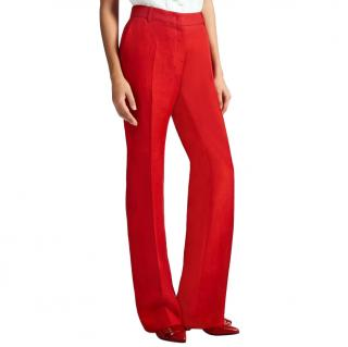 Max Mara Red Tailored Pants