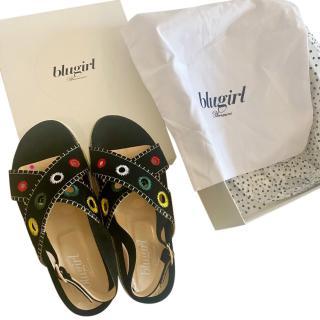 Blugirl Embroidered Crossover Sandals