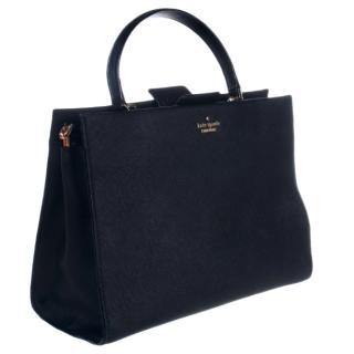 Kate Spade Black Leather Top Handle Tote Bag