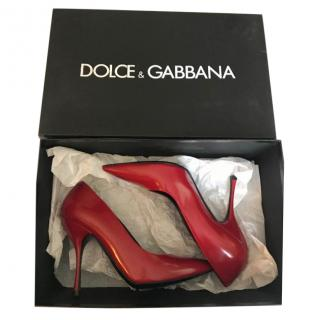 Dolce & Gabbana Red Leather Pumps