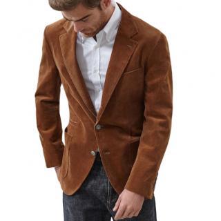 Brunello Cucinelli Cashmere Blend Tan Tailored Jacket