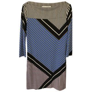 Diane von Furstenburg Ruri Multi-Stripe Shift Dress