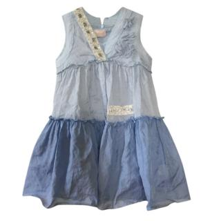 I Pinco Pallino Blue Tiered Dress