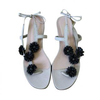 Valentino Floral Embellished Sandals