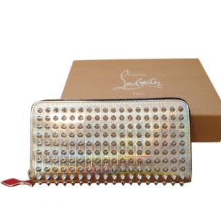 Christian Louboutin Holographic Leather Spiked Panettone Wallet