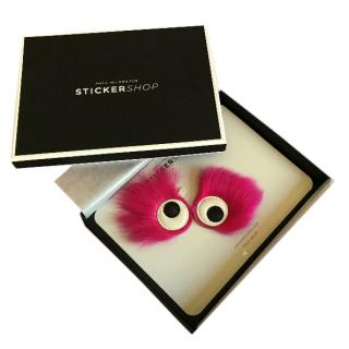 Anya Hindmarch Pink Fur Stickers
