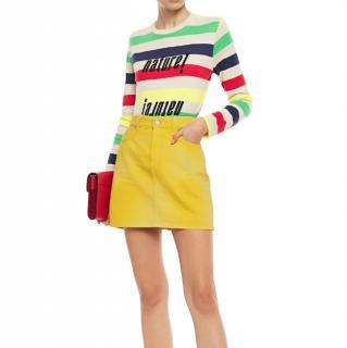 Ganni Yellow Denim Mini Skirt
