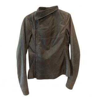 Rick Owens Asymmetric Leather Jacket