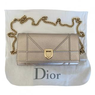 Dior Rose Gold Archicannage Diorama Wallet on Chain