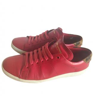 Saint Laurent court classic SL/06 sneakers in red leather