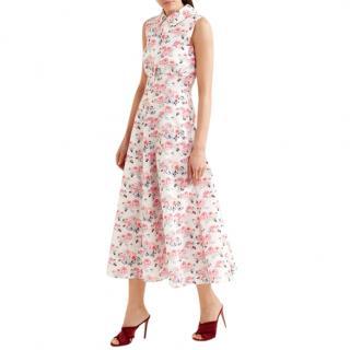 Emilia Wickstead Fabiola Floral Print Cloqu midi dress