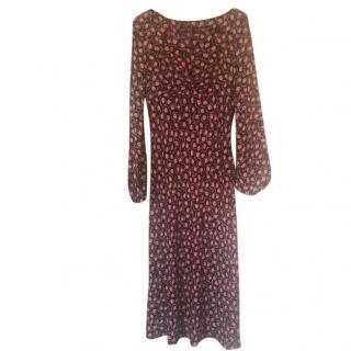 Diane Von Furstenberg Red Lip Printed Dress