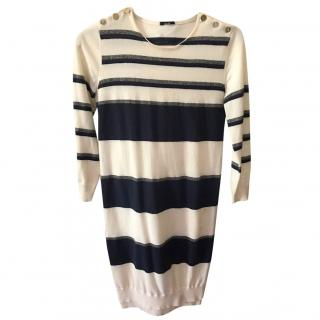 Joseph Striped Knit Dress