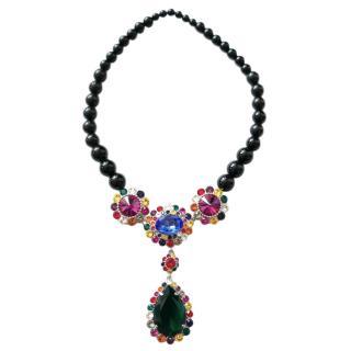 Miu Miu Floral Crystal Colar Necklace