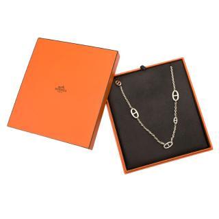 Hermes Sterling Silver Farandole Long Necklace 80