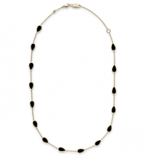 Ippolita Pear Multi Station Necklace in 18K Gold