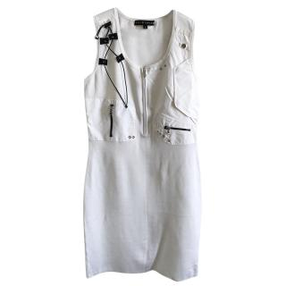 Ralph Lauren white zip front utility dress