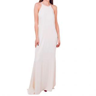 Badgley Mischka ivory column gown