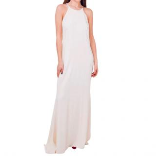 Badgley Mischka ivory column gown