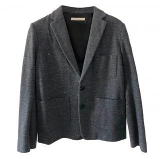 Balenciaga Grey Single Breasted Jacket