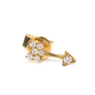 Roxanne First Yellow Gold Cupids Bow Stud