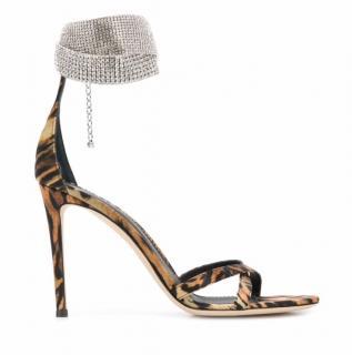 Giuseppe Zanotti Janell leopard print crystal sandals
