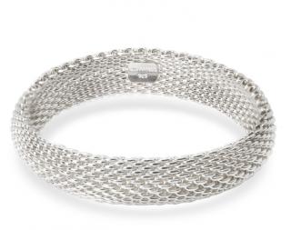 Tiffany & Co. Somerset Mesh Bracelet In Sterling Silver