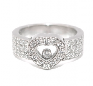 Chopard Happy diamonds heart ring in 18kt white gold