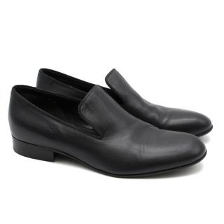Celine Black Leather Loafers