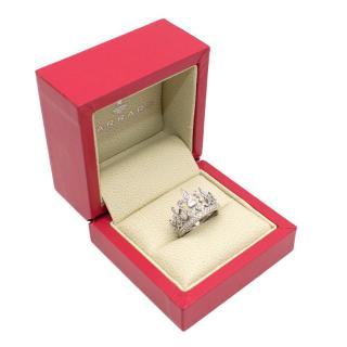 Garrard White Gold Diamond Crown Ring