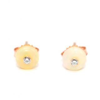 Nina Runsdorf Opal & Diamond Bead Stud Earrings