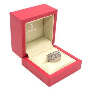 Garrard Maltese Cross Diamond Ring in White Gold