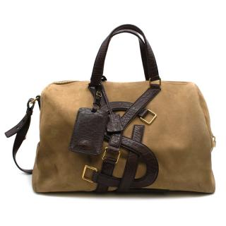 Yves Saint Laurent Suede & Leather Weekend Bag