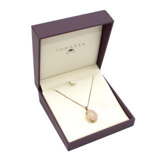 Tomassa Firefly Evenings White Moonstone & Diamond Pendant Necklace